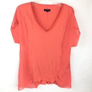 Rag and Bone Coral Pink Blouse